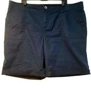 24 Lane Bryant Navy Blue Cotton Shorts